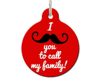 I Moustache You Pet ID Tag | FREE Personalization