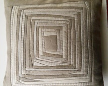Pillow Case Quilted Pillow Case Designers Pillow Case Linen Pillow Case Patchwork Pillow Cover Cushion Cover Pillow Cover Padded Pillow Case