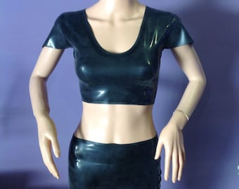 Basic latex mini skirt