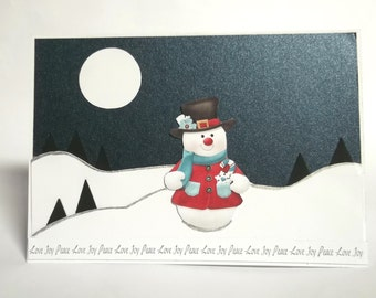 Christmas Greeting Card Peace Love Joy