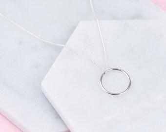 Handmade Sterling Silver Halo Karma Necklace