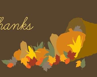 Thanks Cornucopia Thanksgiving Banner