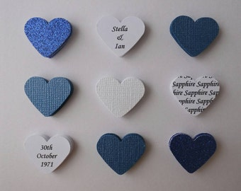 Handmade personalised Sapphire Wedding Anniversary card - 45th 45