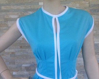"1970s ladies polyester summer dress size 10 34"" bust"
