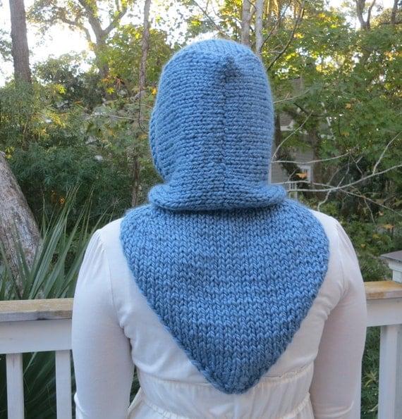 Maid Marian Hoodie Cowl in Super Bulky Yarn Knitting Pattern, Winter Hat, Win...