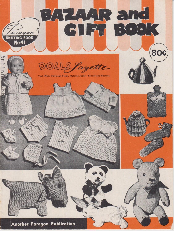 Knitting Pattern Books Toys : Vintage Pattern Book 1970s Knit & Crochet Toys Dolls