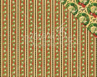 2 Sheets of ST. NICHOLAS Christmas Scrapbook Paper by Graphic 45 - North Pole