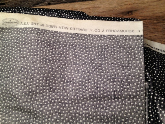 Waverly Fabric Polka Navy With White Dots Made In Usa