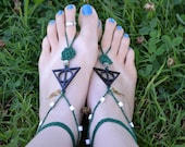 Harry Potter Deathly Hallows Barefoot Sandals ~ Slytherin