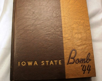 Iowa State College Year Book, 1944 The BOMB, Very large Heavy Vintage Yearbook
