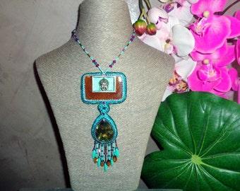 """Necklace with Labradorite """" Spiritual Awakening """""""