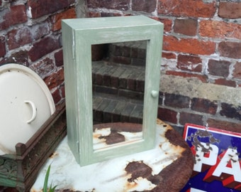 Painted Shabby Chic Bathroom Cupboard With Mirror