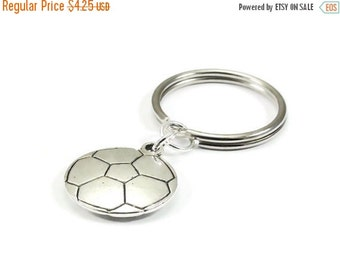 On Sale Soccer Ball Key Chain Silver Metal Keyring