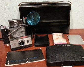 Polaroid 101 Land Camera Kit Vintage 1960s
