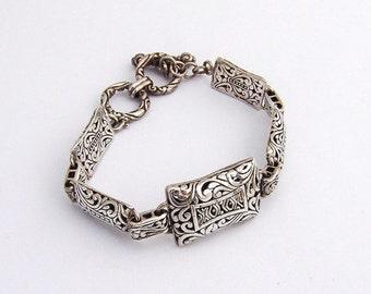 SaLe! sALe! Ornate Open Work Bracelet Sterling Silver