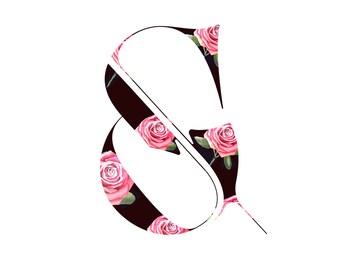 Flower Ampersand Poster