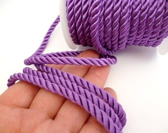 6mm Lilac Braided Silk Cord_PP55201783_Cords_Braided Lilac Silk_of 6 mm_10 meters_33ft