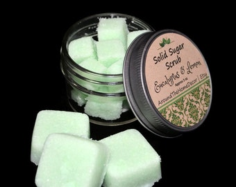 Solid Sugar Scrubs, Body Polish, Gentle Exfoliater
