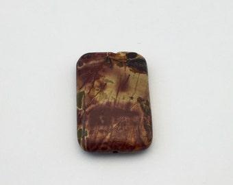 1 Picasso jasper stone bead / 20mm x 30mm  #PP 132