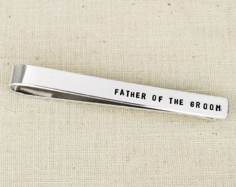Father of the Groom Tie Clip - Aluminum Tie Bar