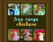 25% OFF Colorful chicken doll doorstop or table decoration made to order  - you choose colors and trims!