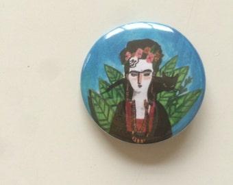 Frida Kahlo pin badge