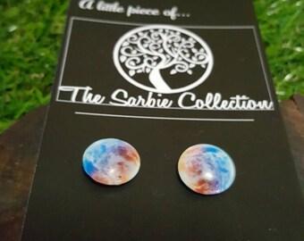 Galaxy space earring studs