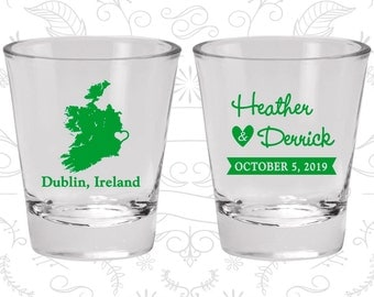 Ireland Shot Glass, Ireland Shot Glasses, Ireland Glass, Ireland Glasses, Ireland Glassware (180)