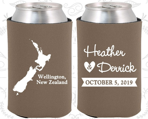Wedding Gifts For Guests New Zealand : New Zealand Wedding Gifts, Coolies, Destination Wedding Favors, New ...