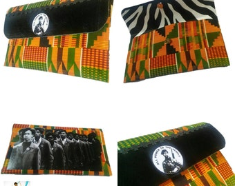 Power to the People Statement Clutch Purse - Black Panther Party - Huey P. Newton - Bobby Seale