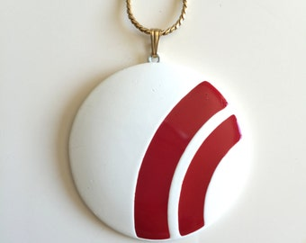 Vintage Red and White Trifari Necklace