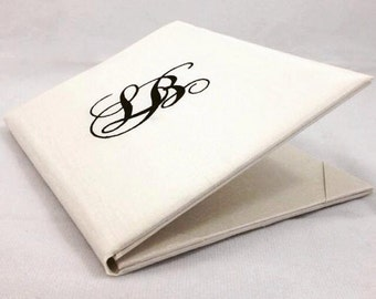 Silk Folio Wedding Invitations Embroidery, A Set Of 20