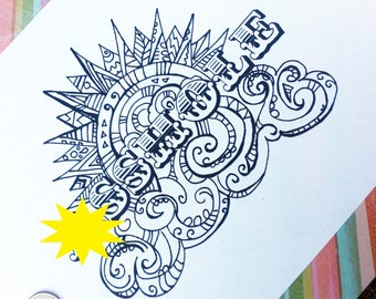 Swear Word Coloring Book Pages AHole Curse