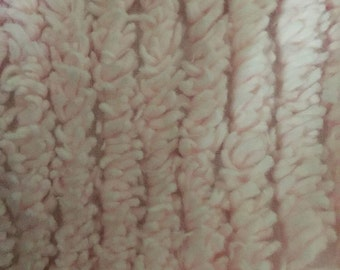 """Pink Chenille fabric cotton  10 ounce 58"""" wide"""