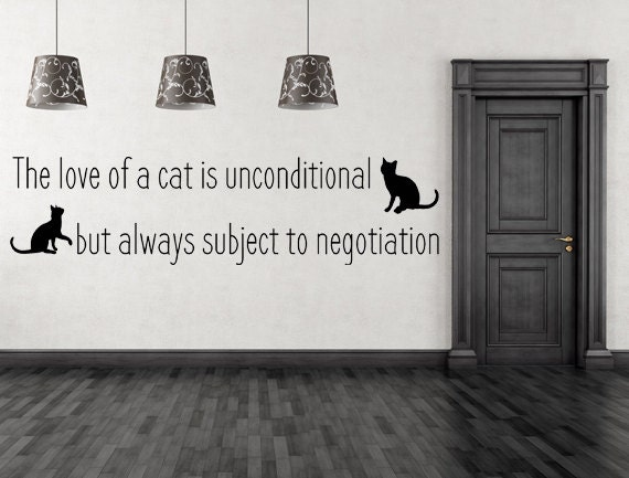 The Love Of A Cat Vinyl Wall Decal Pet Wall Art Cat Wall - Custom vinyl wall decals cats