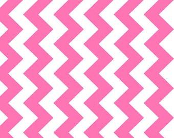 Riley Blake - C320-101 NEO Medium Chevron Neon Pink