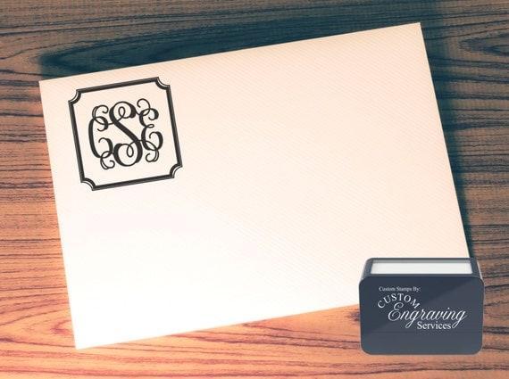 Custom Return Address Stamp Self Inking Calligraphy