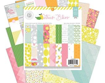 "Pink Paislee Citrus Bliss 6"" X 6"" Paper Pad, 36 sheets"