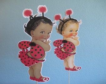 Ladybug Centerpiece (1) Ladybug Birthday,Ladybug Party,Ladybug Baby Shower,LadyBug Party