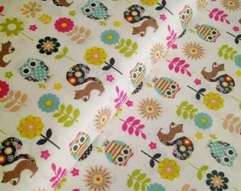 "0,5 m Printed fabric ""My Woodland Friends - Animals"""