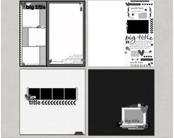 Sample Pack 34 - 12x12 Digital Scrapbooking Templates