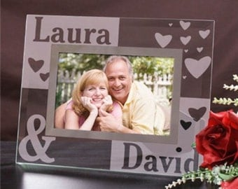 Personalized Just the Two of Us Glass Picture Frame