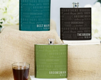 Personalized Wedding Party Flask