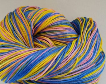 Hand Dyed Superwash Merino/Nylon Fingerling Yarn
