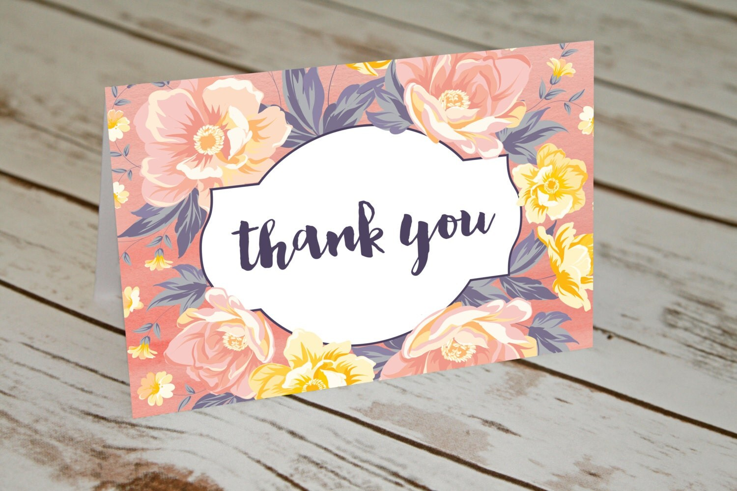 floral thank you cards thank yous girls baby shower thank