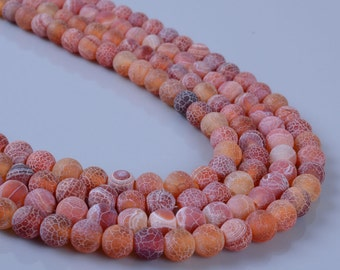 6MM285 6mm Weathered agate round ball loose gemstone beads 16""
