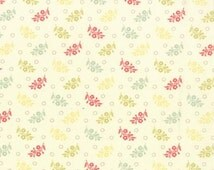 Moda Fig Tree & Co, STRAWBERRY FIELDS REVISITED, Moda 20268 24 Floral Sprigs Multi Natural, Floral Quilt Fabric, Moda Quilt Fabric, Cotton