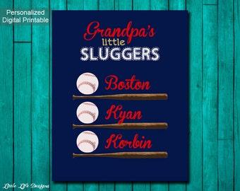 Little Sluggers. Baseball Gift for Dad. Baseball Gift for Grandpa. Personalized Little Sluggers with names. Sports. Fathers Day Gift Grandpa
