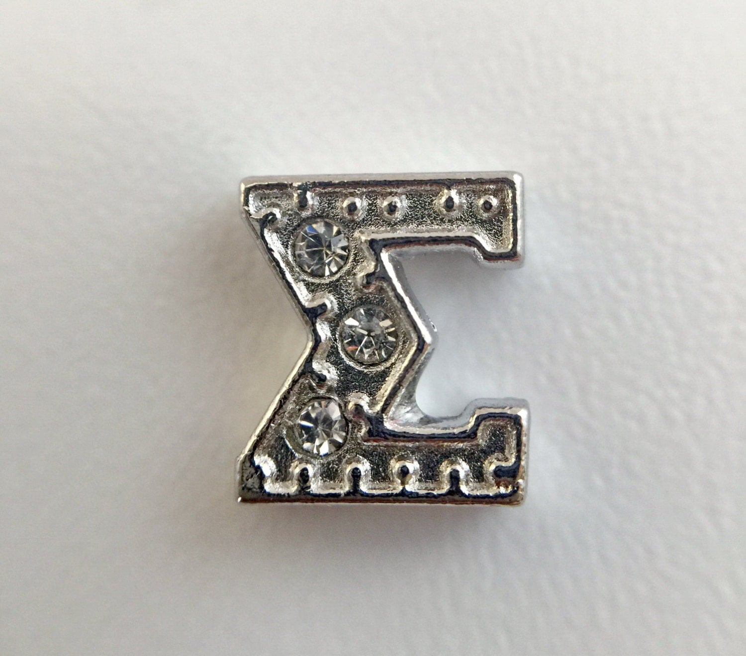 Store closing sale sigma sorority cz greek letter silver for Greek letters for sale
