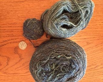 Handspun yarn wool
